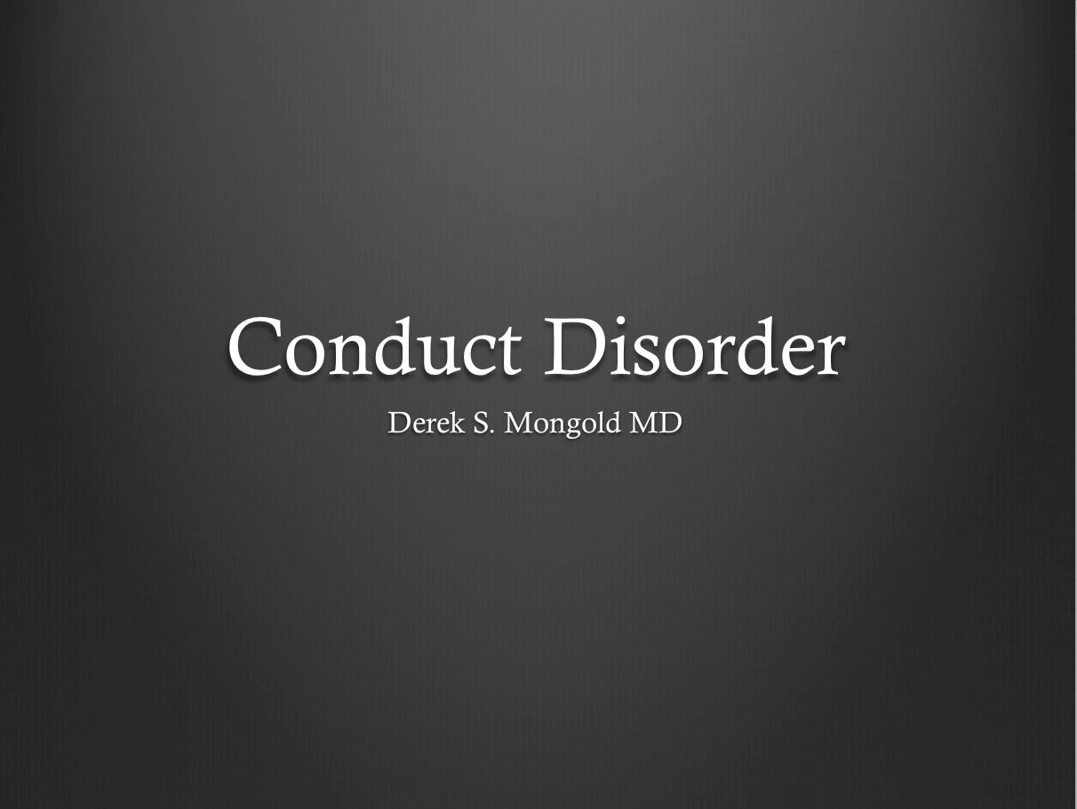 conduct disorder Read about the causes & symptoms of conduct disorder southcoast behavioral  health helps those struggling with conduct disorder & other mood or anxiety.