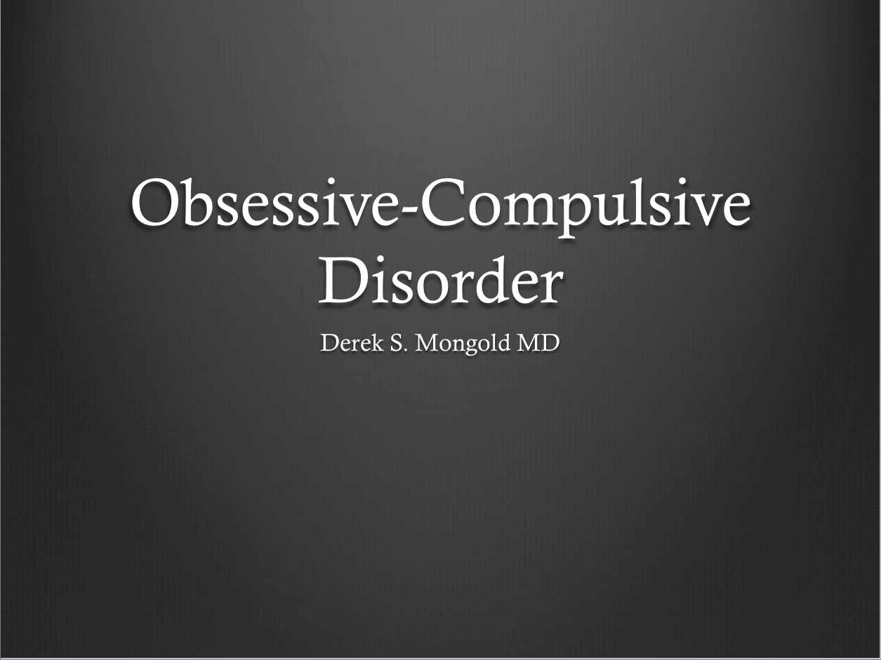 an analysis of obsessive compulsive disorder in psychiatry In 2006, the national institute of clinical and health excellence (nice) guidelines for obsessive compulsive disorder (ocd) recommended anti-psychotics as a class for ssri treatment resistant ocd the article aims to systematically review and conduct a meta-analysis on the clinical effectiveness of.