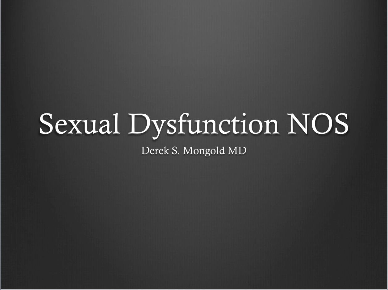 The dsm iv tr identifies sexual dysfunction as