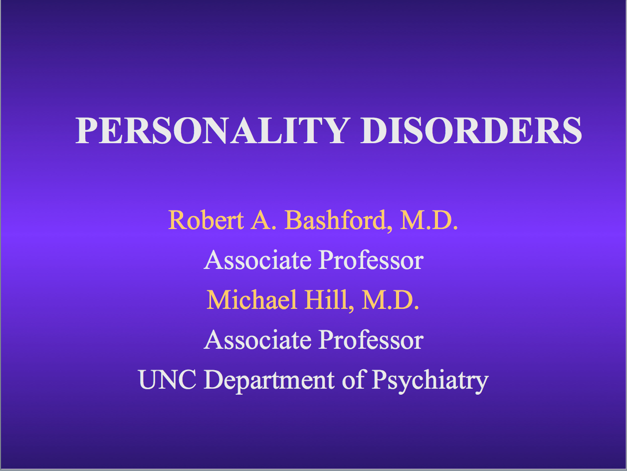 Psychiatry Lectures Ppt
