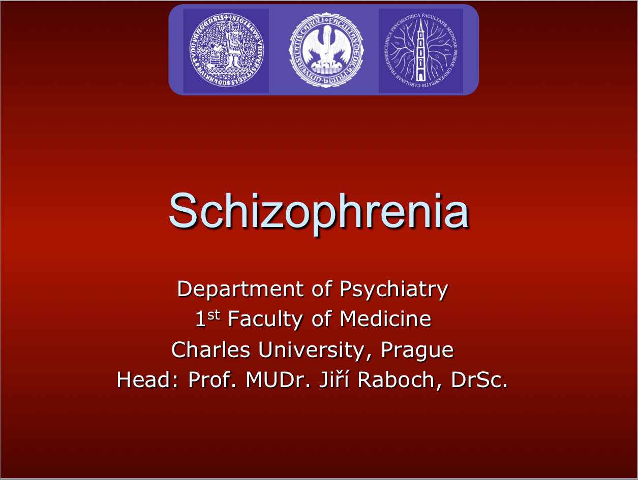 Psychiatry Lectures   Schizophrenia and Other Psychotic Disorders