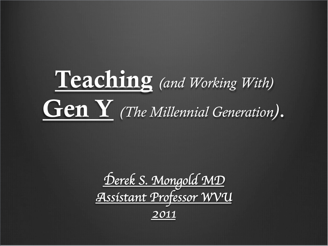 psychiatry lectures teaching and working generation y by psychiatry lectures teaching and working generation y by derek mongold md psychiatry lectures